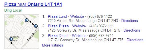 Bing Listing