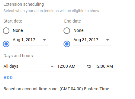 promotion extension scheduling