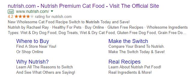 Nutrish sample ad