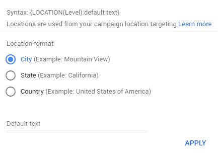 RSA Location Targeting