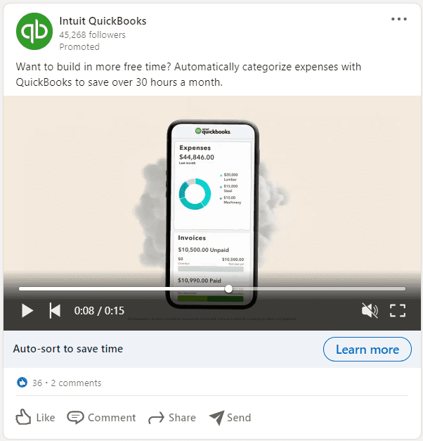 LinkedIn Sponsored Post